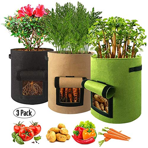 LKA toilettas voor aardappelplanten, dubbellaags, hoogwaardig, ademend, met handgrepen voor aardappelen/wortels