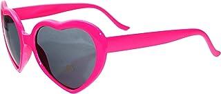 Pumpumly 3 unids negro amor en forma de gafas de sol para mujeres hombre retro gafas efecto corazón difracción gafas cambi...