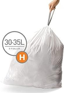 simplehuman Code H Custom Fit Drawstring Trash Bags, 30-35 Liter / 8-9 Gallon, 12 Refill Packs (240 Count)