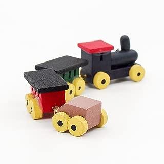 Odoria 1:12 Miniature Vintage Wooden Train Set Dollhouse Decoration Accessories
