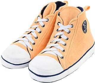 Gohom Zapatillas altas de los hombres Casa Botas Zapatos de interior