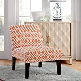 Carver Avington Slipper Chair, One Size, Orange and Cream