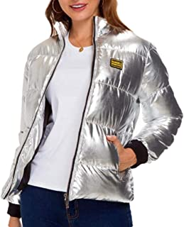 Women Long Sleeve Packable Down Jacket Ultra Light Weight Short Puffer Coat