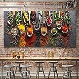 MXLF CHBOEN Pittura Tela Il Cibo Immagine Pittura Spezie Poster modulare for la Cucina del Ristorante Decorazione Domestica Arte della Parete HD Stampato Senza Cornice