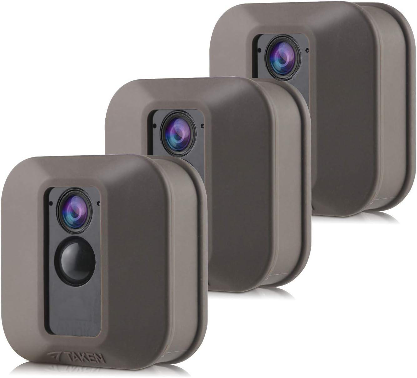 Silikon Schutzhüllen Für Blink Xt Xt2 Sicherheitskamera Silikon Hülle Für Blinken Heimsicherheit Anti Kratz Schutz Für Vollen Schutz Für Den Innen Und Außenbereich 3 Stück Braun Elektronik