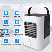 LUCKSTAR Personal Air Cooler USB Fan Portable Mini Air Conditioner Fan Handhold Desk Fan Air Refrigeration & Humidification & LED Night Fan, Perfect for Office, Home, Outdoor, Camping
