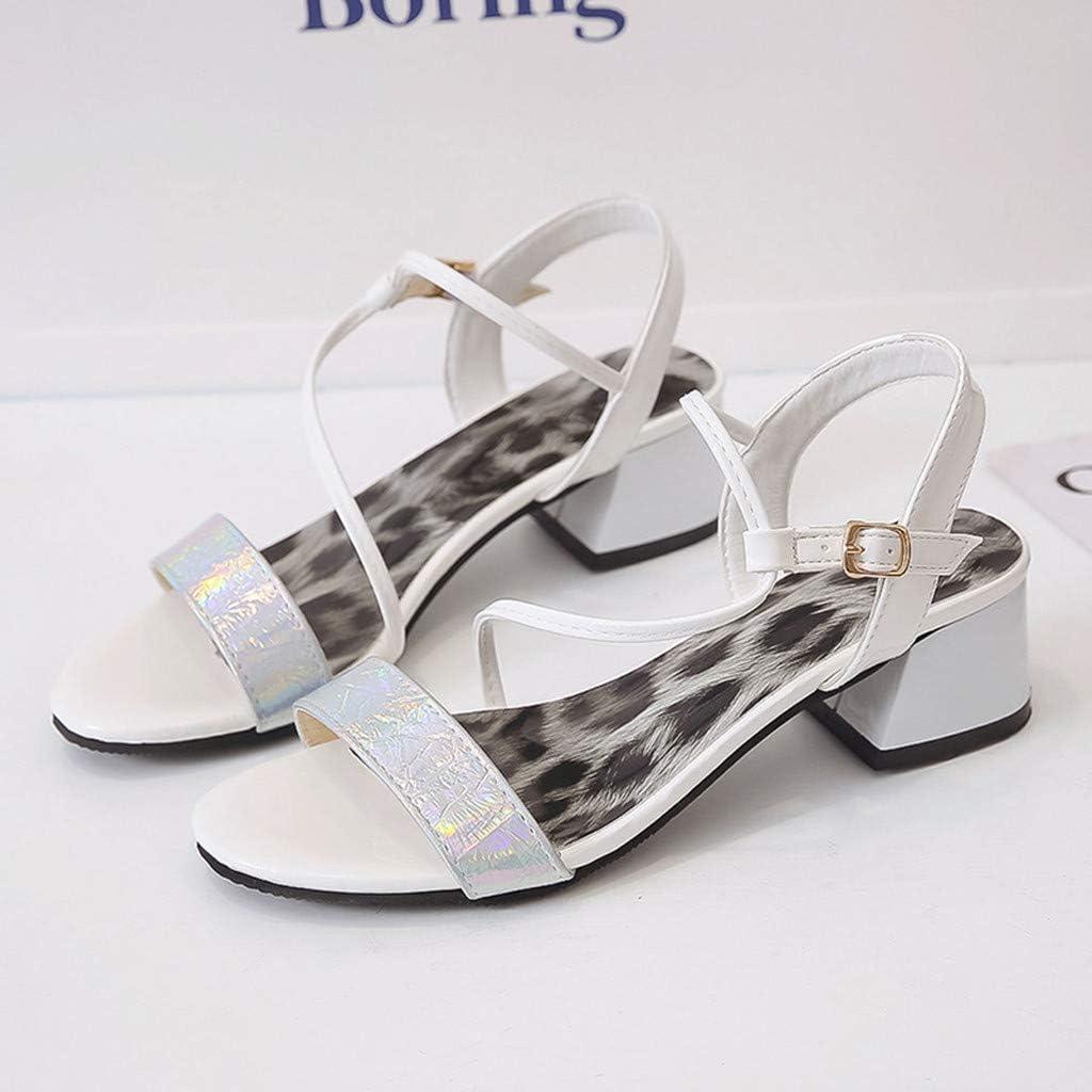 YKARITIANNA Womens Ladies Fashion Bohemia Style Buckle Leopard Beach Sandals Casual Shoes