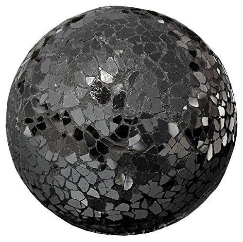 Miroir de décoration en verre-Noir mosaïque-Balle 13 cm