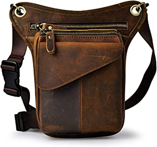 Sports Bag,Hiking Bag,Vintage Leather Bag,Waist Pack Drop Leg for Men,Multi-Purpose Motorcycle Bike Outdoor Tactical Cycling Riding Camping