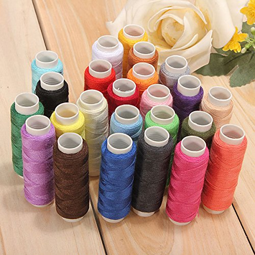 Affordable Vivona 24 Color Cotton Sewing Thread Spools Sewing Machine Accessories