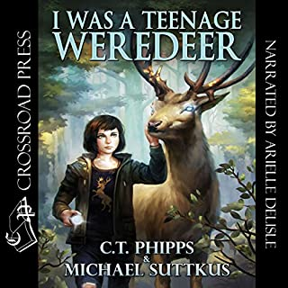 I Was a Teenage Weredeer     Bright Falls Mysteries Series, Book 1              By:                                                                                                                                 C. T. Phipps,                                                                                        Michael Suttkus                               Narrated by:                                                                                                                                 Arielle DeLisle                      Length: 9 hrs and 54 mins     100 ratings     Overall 4.4