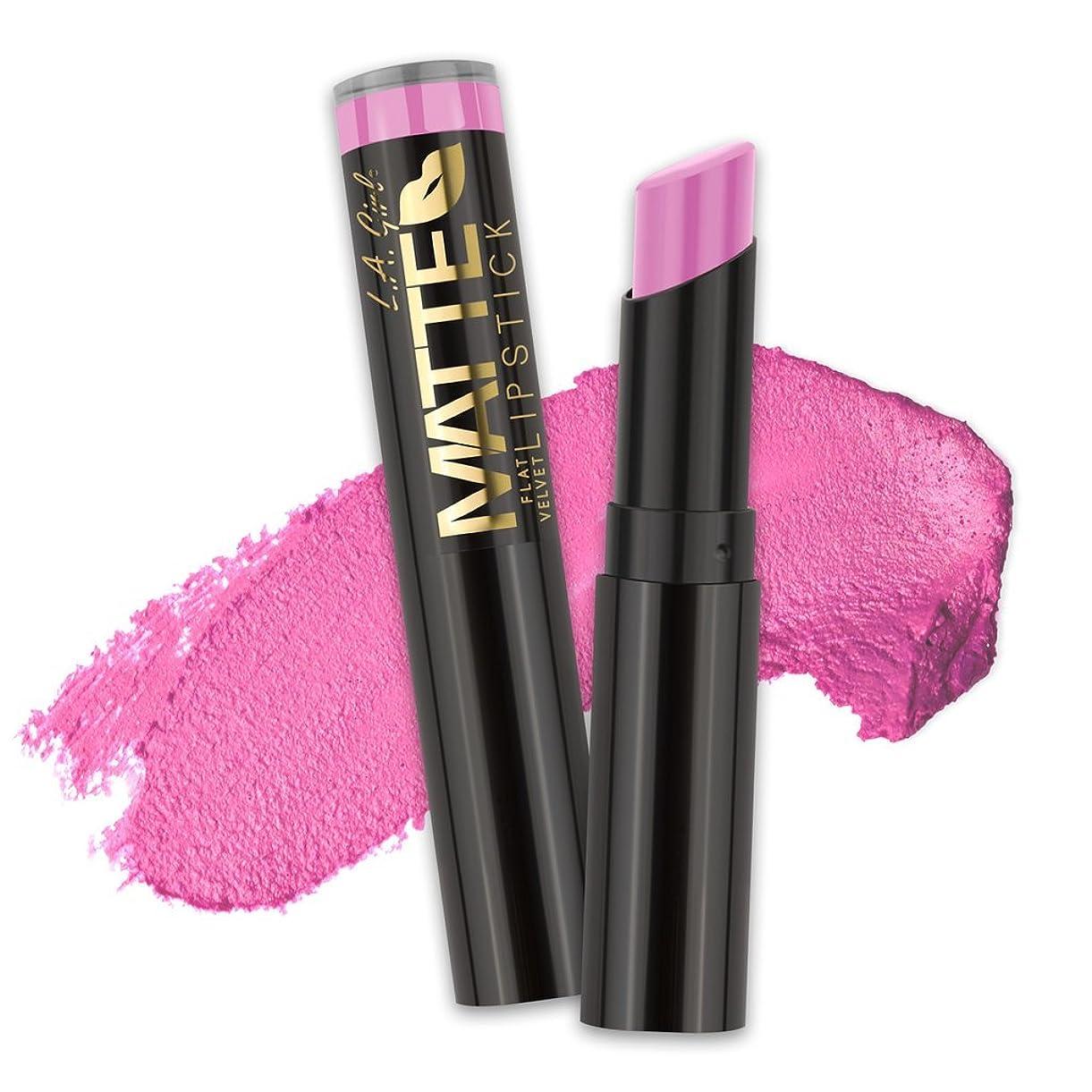 詳細な固体バットL.A. GIRL Matte Flat Velvet Lipstick Dare to Date (並行輸入品)