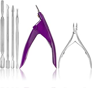SHANY Cosmetics 6 Piece Manicure Tool Set with Pouch All In One Manicure