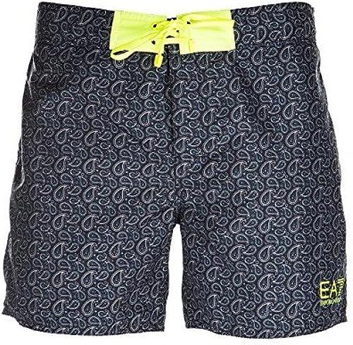 courte de bain EA7 Sea World Bw cravates M Boxer - 9020007P74342620