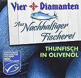 Vier Diamanten Thunfisch Filets Olivenöl MSC 160 g, 8er Pack (8 x 160 g)