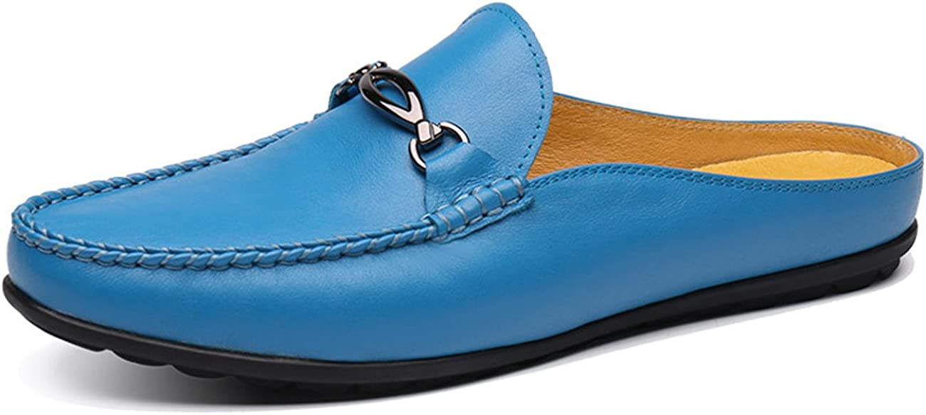 Santimon Mules Clog Slippers Men Fashion Patent Slip Leather Max 65% OFF Super popular specialty store on