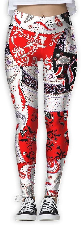 Tribe Pattern Womens Power Flex Running Yoga Pants Workout Tights Leggings Trouser