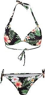 SSLR Women's Halter Swimwear Printed Two Piece Bikini Sets