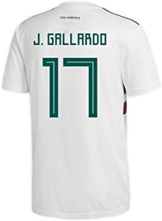 adidas J. Gallardo #17 Mexico Away Men's Soccer Jersey World Cup Russia 2018
