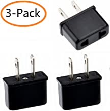 Europe / Australia to USA Travel Power Plug Adapter Converter,(3-Pack)