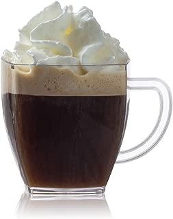 Zappy Square 2 Oz Mini Coffee Espresso Cappuccino Mugs 24 Ct Small Dessert Shot Glasses Party Wedding Cups Disposable Plastic Mug (Clear)