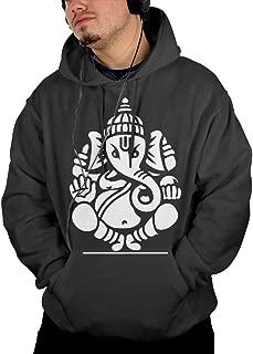 ポケット パーカー スウェットパーカー ガネーシャ インド 神様 ルームウェア プルオーバー 登山 ゆるシルエット Black