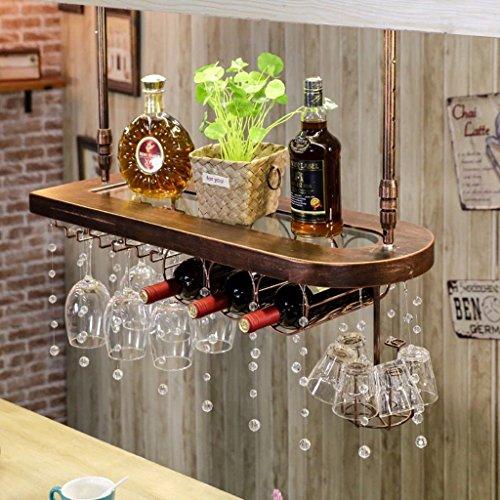 ZPWSNH Massivholz Bar Weinregal Weinglas Rack Hängen Weinregal Dekoration Kreative Regal Weinglas Rack Umgedreht Weinflaschenhalter (Color : #2)