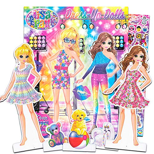 Lisa Frank Paper Dolls Activity Set -- 2 Paper Dolls, 4 Paper Pets, 275 Lisa Frank Stickers, Coloring Pages, 200 Fashion Combinations (Lisa Frank Party Supplies)