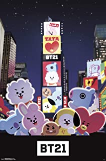 Trends International BT21-Times Square Wall Poster, 22.375
