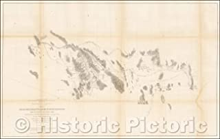 Historic Map - Route Near the 32nd Parallel, 1856, U.S. Pacific RR Surveys - Vintage Wall Art 70in x 44in