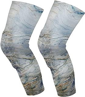 Knee Sleeve Unique Marble Morden Full Leg Brace Compression Long Sleeves Pads Socks for Meniscus Tear, Arthritis, Running, Workout, Basketball, Sports, Men and Women 1 Pair