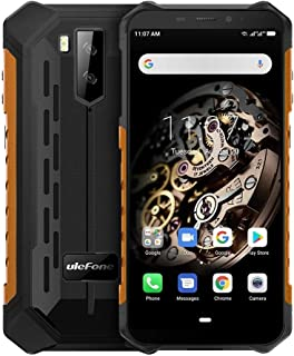 Phones Armor X5 Rugged Phone, 3GB+32GB, IP68/IP69K Waterproof Dustproof Shockproof, Dual Back Cameras, Face Identification, 5000mAh Battery, 5.5 inch Android 9.0 MTK6763 Octa Core 64-bit up to 2.0GHz,