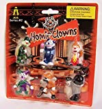 Homies Clowns Series 2, set of 6!! On card, Mint! by Homieclowns