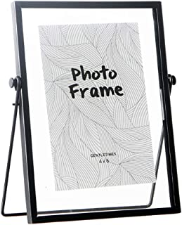 FLY SPRAY Metal Photo Frame Free Standing Collection Picture Frame Decor with Plexiglas Cover High Definition Glass Desk Photo Display Pictures 4