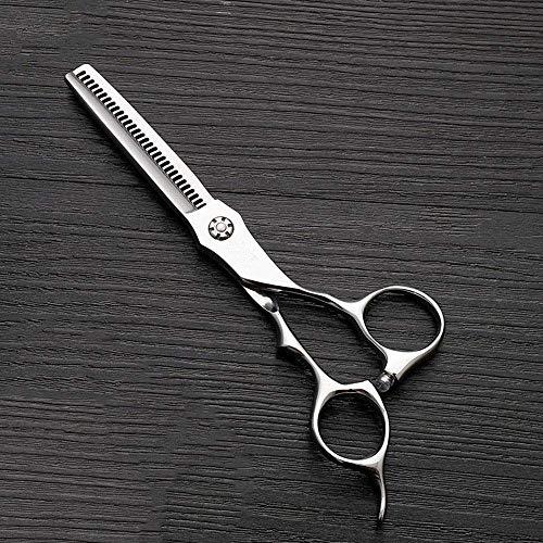 ZLININ Y-Longhair 6 Pulgadas de Acero Inoxidable de Dientes de cizalla Adelgazamiento Tijeras de peluquería, Tijeras de peluquería Tijeras Especiales (Color: Plata)