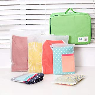 Mini Matte Frosted Travel Organizer Waterproof Sealing Underwear Clothing Sock Bag Transparent Package Pouch
