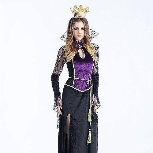 Fashion-Cos1 Vampire Witch Queen Kostüme Outfit Erwachsene Frauen Sexy Kleid Halloween Party Cosplay Für Festival Maskerade (Größe   XL)