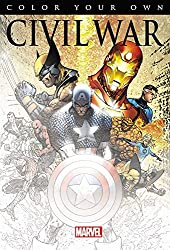 civil war avengers coloring book