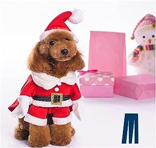 Mikayoo Christmas Costumes for Small Dog Medium Dog Or Cat, Santa Suit with Hat,Santa Dress with Hat, Santa Claus Costumes Christmas Holiday, Xmas Coat with Santa Hat, Xmas Dress with Santa Hat