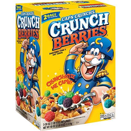 Cap'n Crunch Berries Breakfast Cereal, 40 Ounce (pack of 6)