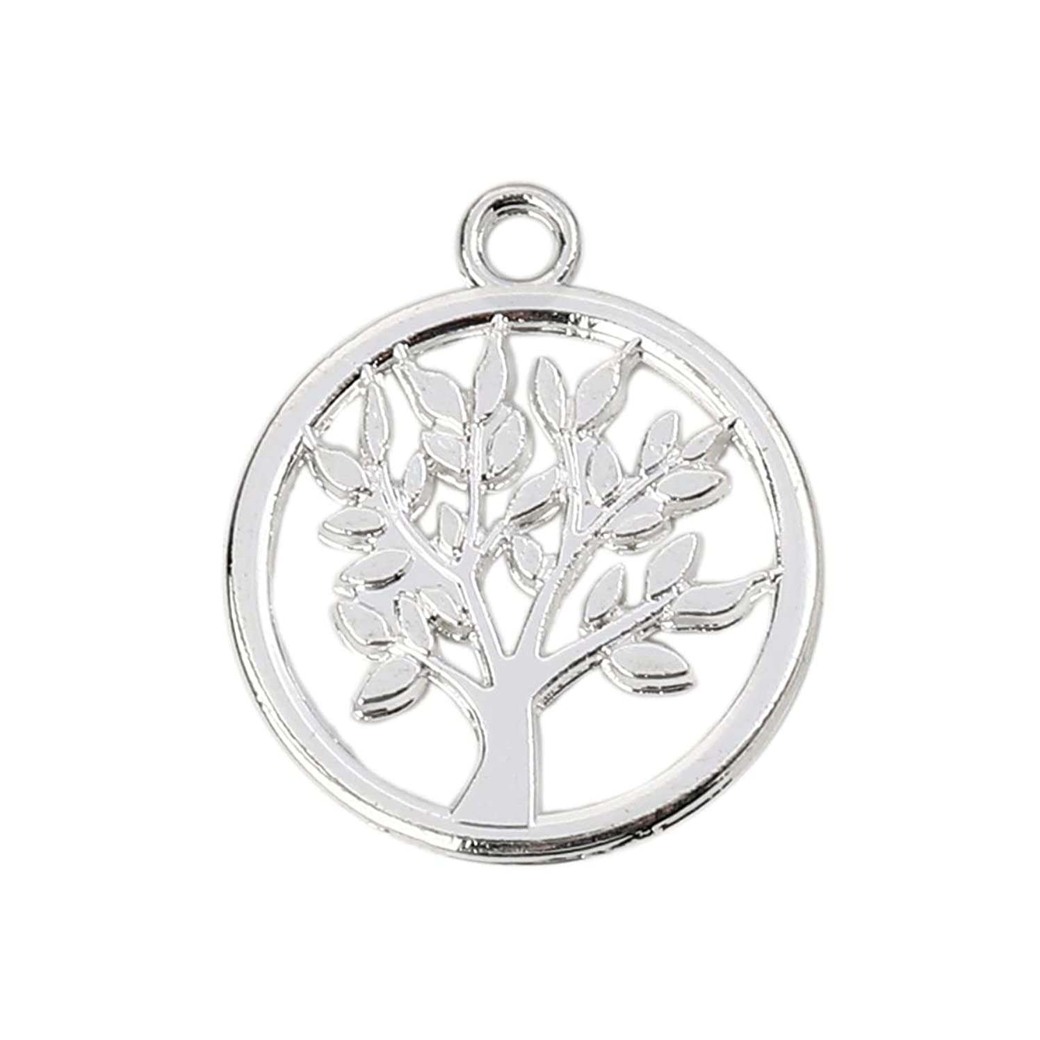 Tree of Life Charm Pendants, 10 Pack, 17mm (5/8