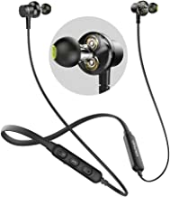 Bluetooth Headphones, AWEI Wireless Neckband Headset, Dual Drivers Earphone, Magnetic Sports Earbuds with CVC 6.0 Noise Cancelling, 6 Hours Playtime, aptX Stereo,Fast Pairing and Comfy