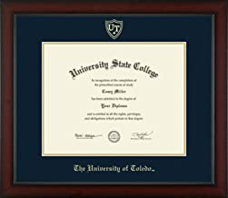 The University of Toledo - Officially Licensed - Masters/PhD- Gold Embossed Diploma Frame - Diploma Size 14