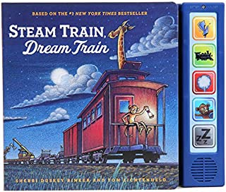 Steam Train Dream Train Sound Book: (Sound Books for Baby, Interactive Books, Train Books for Toddlers, Children's Bedtime Stories, Train Board Books)
