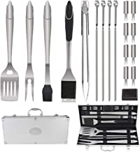 POLIGO 19PCS BBQ Grill Tools Set Extra Thick Stainless Steel Barbecue Grilling Accessories Set with Aluminum Case for Christmas Birthday Gifts - Outdoor Grill Utensil Kit Ideal Presents for Dad Men