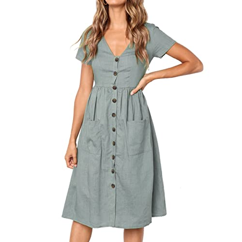 c1c5fd8bab7 Button up Dress: Amazon.com