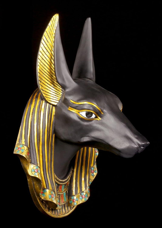 Gyptisches Wandrelief - Anubis Kopf  Deko Figur gypten Schakal Gott