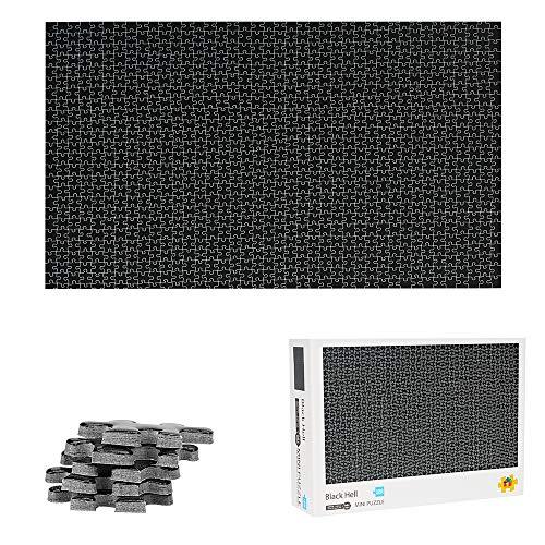 TINYOUTH 1000 Teile Schwarz Puzzle für Erwachsene, 42cm*29.7cm 2mm Mini Karton Puzzle - Familienpuzzle Verringerter Druck Schwieriges Puzzle Rahmen Puzzle für Kinder Erwachsene