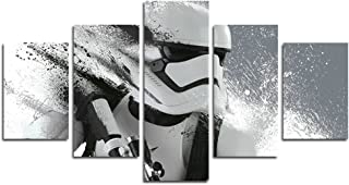 Leyrus 5 Piece Stormtrooper Star Wars Movie Painting for Living Room Home Decor Canvas Art Wall Poster (No Frame) Unframed YSH034 50 inch x30 inch