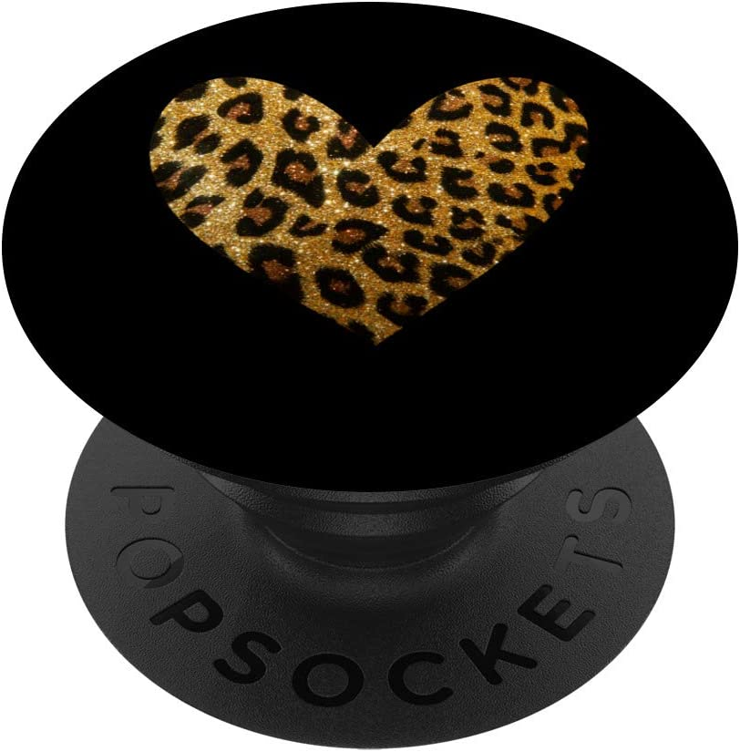 Natural Leopard Pattern Directly managed store Heart Cheetah Print Soldering Cat Lover PopSocke